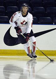 Simon Gagne, seen here playing for Team Canada, is currently the longest tenured Flyer.