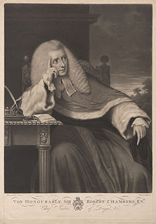 Robert Chambers (English judge) English judge, born 1737