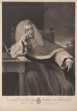 Robert Chambers (English judge) - Image: Sir Robert Chambers