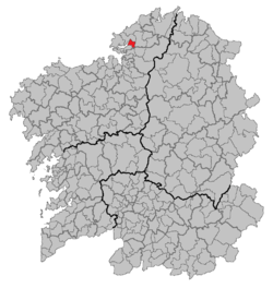Location of Neda within Galicia