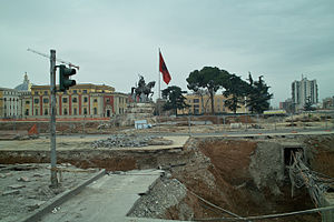 Skanderbeg Square - 2010 construction works.