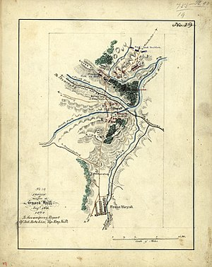 Battle of Guard Hill - Sketch of Action by Jedediah Hotchkiss.