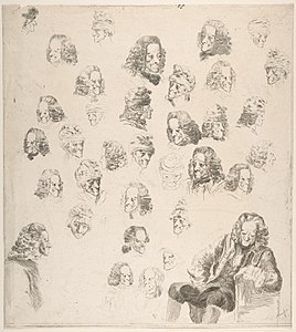 Sketches of Voltaire at Age Eighty-One MET DP800080.jpg