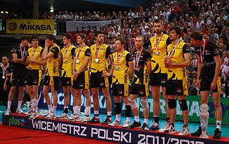 PGE Skra Bełchatów - PGE Skra after winning silver medal of Polish Championship in season 2011/2012.