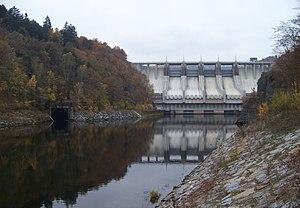 Slapy Dam - Image: Slapská přehrada, zdola