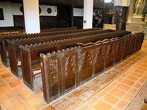 Church of St Leonard, Old Warden - The restored snake pews