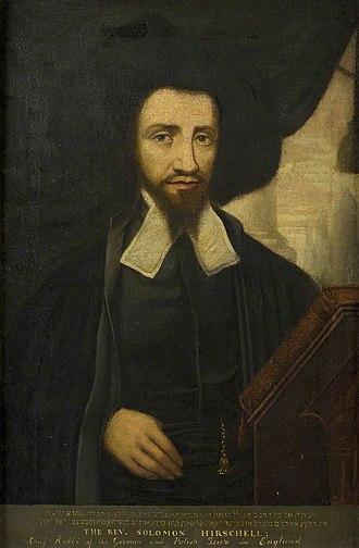 Solomon Hirschell - Solomon Hirschell, engraving
