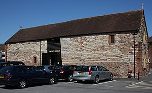 Taunton Priory - The Old Priory Barn, now used as a museum, is the only surviving building.