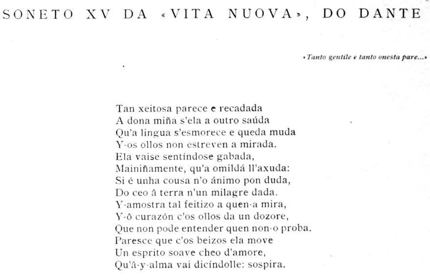 """""""Soneto XV da Vita nuova""""."""