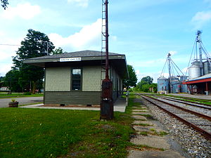 The former Buffalo and South Western Railroad station in South Dayton.