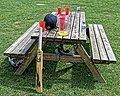 Southgate Adelaide Cricket Club outdoor table and cricket kit.jpg