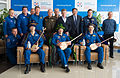 Soyuz TMA-07M welcome ceremony at the Karaganda Airport.jpg