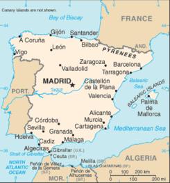 Aguas Territoriales Españolas Mapa.Geografia De Espana Wikipedia La Enciclopedia Libre