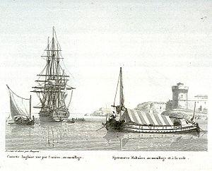 Calypso-class spéronare - Image: Speronare (1826)