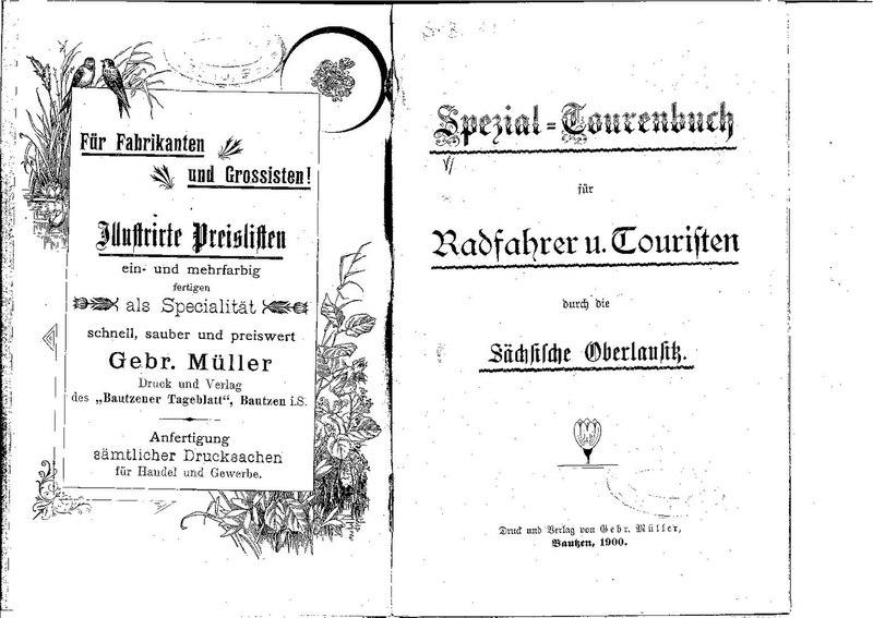 Spezial-Tourenbuch für Radfahrer und Touristen durch die Sächsische Oberlausitz