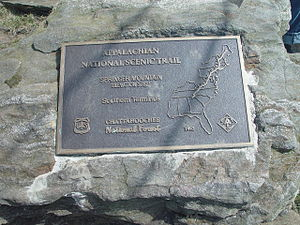 Springer Mountain - Image: Spring Mountain Scenic Marker