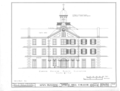 Spring Hill College, Main Building, Old Shell Road, Spring Hill, Mobile County, AL HABS ALA,49-SPRIHI,3B- (sheet 3 of 5).png