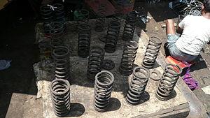 Chor Bazaar - Automobile springs being sold at Chor Bazaar
