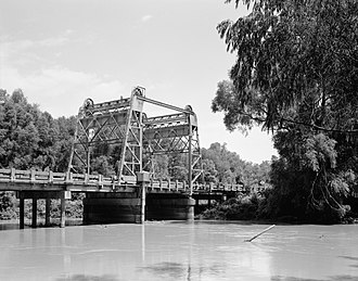 Arkansas Highway 18 - AR 18 bridge over the St. Francis River in Lake City, July 1988