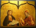 St. Mark and St. Thomas, by Fernando Gallego, 1480-1488, predella, oil on panel - University of Arizona Museum of Art - University of Arizona - Tucson, AZ - DSC08299.jpg