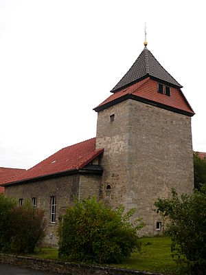 Groß Ellershausen - St.-Martin's-church in Groß Ellershausen, the steeple was built in the 10th or 11th century.