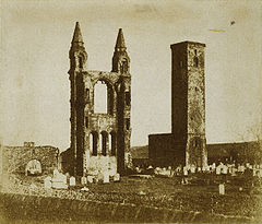 St Andrew's Cathedral, St Andrews, Scotland (1842).jpg