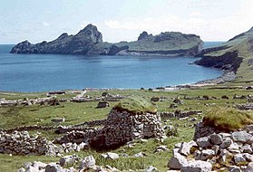 Village Bay sur Hirta en 1969