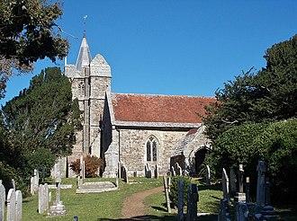 St Mary's Church, Brighstone - South face of the church.