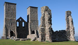 St Mary's Church, Reculver - Ruins of St Mary's Church, Reculver, seen from the south-east in 2011