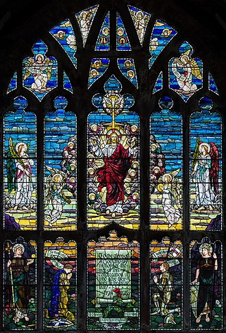 Robert Anning Bell - Image: St Matthew's Church Paisley Stained Glass Window