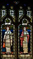 Stained glass window, St Peter's church, Firle, Sussex (16790555568).jpg