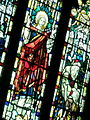 Stained glass window with biblical scene in Christ Church Moss Side.jpg