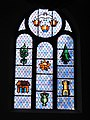 Stained glass windows of the church John the Baptist (Mauleon) NW.jpg