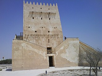 Umm Salal SC - One of the Barzan Towers as viewed from the side