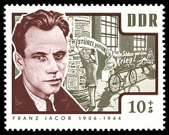 Franz Jacob (Resistance fighter) - Franz Jacob, 1964 stamp from the DDR