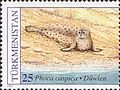 Stamps of Turkmenistan, 1993 - Caspian seal (Phoca caspica) on sand, 25.jpg
