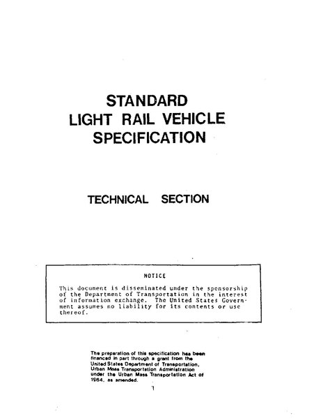 File:Standard Light Rail Vehicle Specification, Technical Section (PB220748).pdf