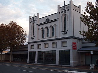 Mile End, South Australia - The former Star Theatre on Henley Beach Road, built in 1915-6 as one of the first cinemas in Adelaide, now part of an office furniture retail store