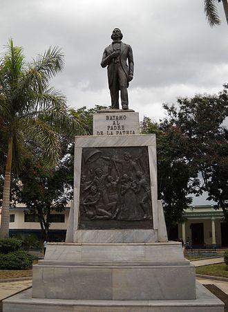 Carlos Manuel de Céspedes - Statue of Carlos Manuel de Cespedes in Cespedes Park in Bayamo