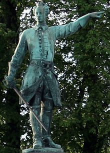 Statue of Charles XII of Sweden at Karl XIIs torg Stockholm Sweden.jpg