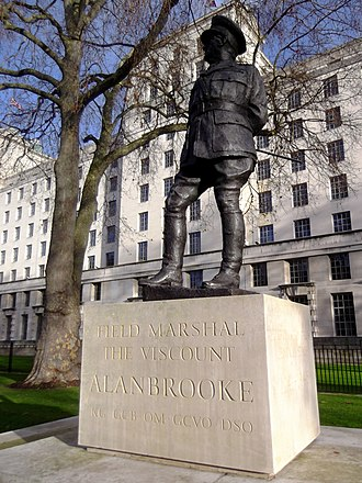Statue of the Viscount Alanbrooke, London - The statue in 2012