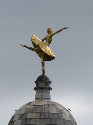 Statue of Anna Pavlova on the dome of the Vict...