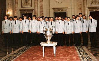 FCSB - Steaua with the European Cup in 1986.
