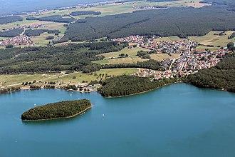 Steinberg am See - Steinberger See (Steinberg lake) with Steinberg