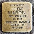 Stolperstein Berliner Allee 81 (Weißs) Helene Blumenthal.jpg