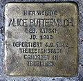 Stolperstein Bochumer Str 18 (Moabi) Alice Buttermilch.jpg
