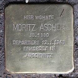 Photo of Moritz Ascher brass plaque