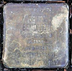 Stolperstein dresdener str 91 (mitte) betty bendheim