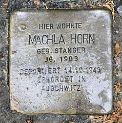 Photo of Machla Horn brass plaque