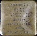 Stumbling block for Heinz Wangenheim (Neumarkt 25)